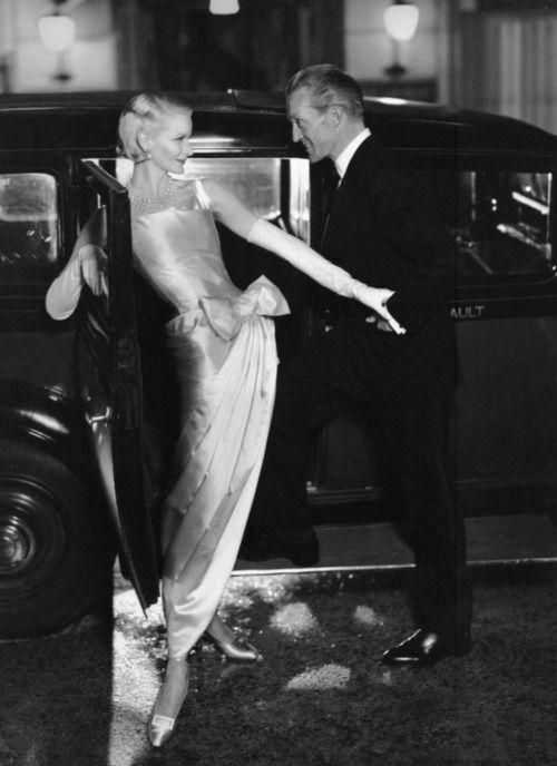1954, Dior - Harper's Bazaar. Photo by Avedon. Sunny Harnett with Kirk Douglas.