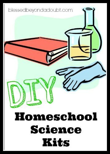 DIY homeschool science kits ~ Putting together DIY homeschool science kits are very inexpensive and are always a hit with children! They make FUN presents, too! Almost all the supplies you can purchase at The Dollar Store.