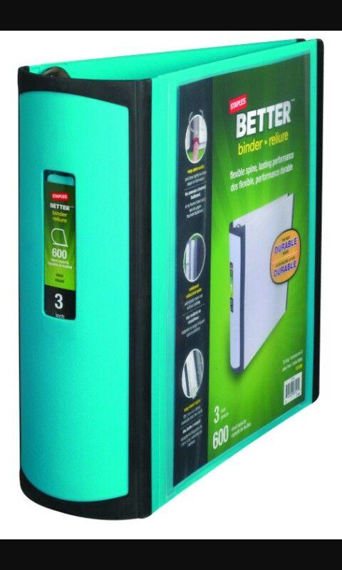 im getting a mint green binder from staples it will last long if u