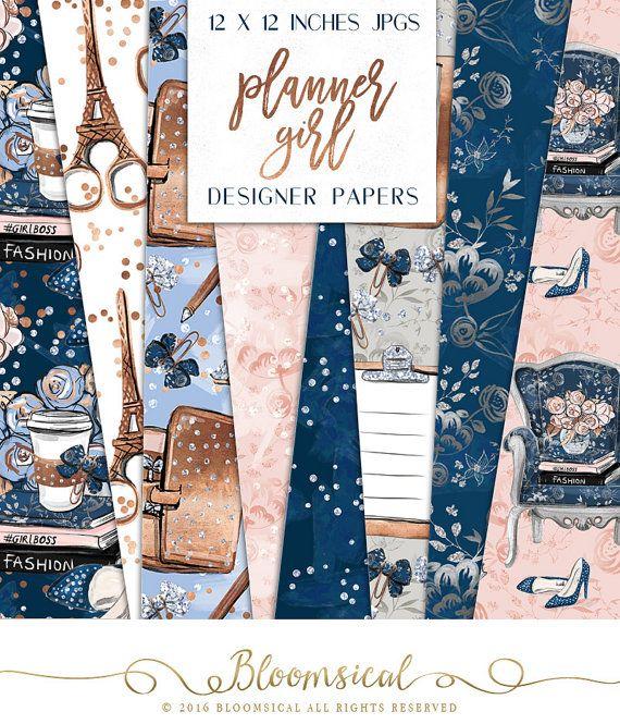 Superb Planer M dchen Papier Pack Fashion Girl Boss Grafiken Digitalb cher Kaffee Muster Planer Aufkleber
