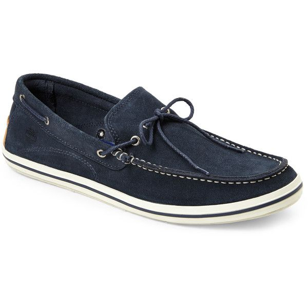Timberland Navy Earthkeepers Casco Bay Boat Shoes ($50) ❤ liked on Polyvore featuring men's fashion, men's shoes, men's loafers, blue, mens sperry topsiders, mens boat shoes, timberland mens shoes, mens topsiders and mens lace up shoes