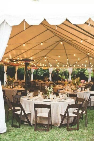 Wedding tent thought