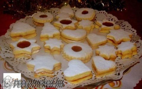 Narancsos töltött keksz recept fotóval