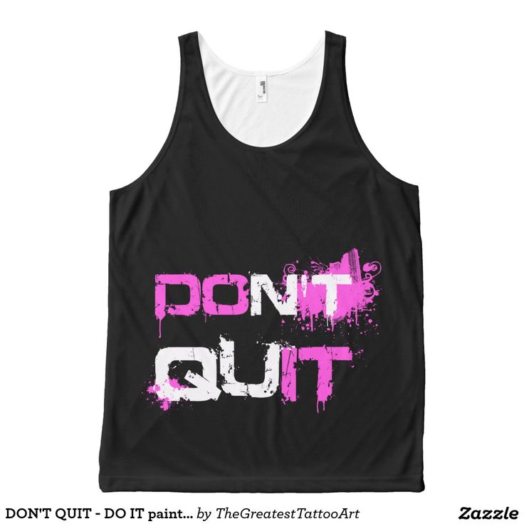 DON'T QUIT - DO IT paint splattered urban quote All-Over Print Tank Top