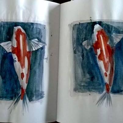 2 fishes for 1st April paintyulWatercolor on paper, 2 pages 15x21 cm --- Un pesce d'aprile non basta? Ecco a voi 2 pesci. Acquerello su carta, 2 pezzi da 15x21 cm ---  #1april #pescedaprile #yuliakorneva #1aprile #watercolor #acquerello #fish #pesce
