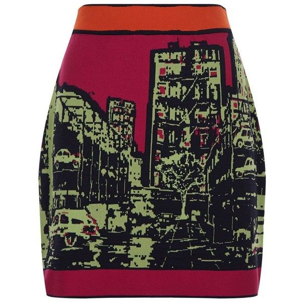 M Missoni Jacquard City Sky Line Skirt ($395) ❤ liked on Polyvore featuring skirts, m missoni skirt, jacquard skirt and m missoni