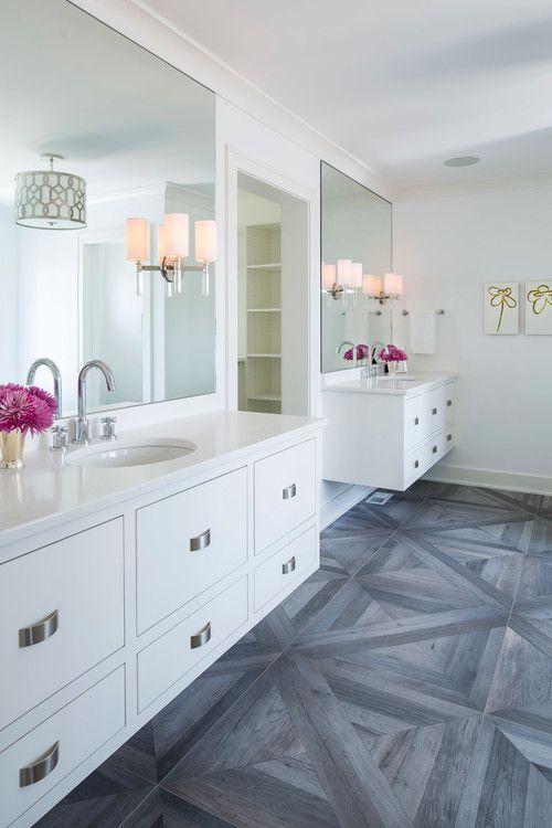 Wall color is Sherwin Williams High Reflective White via Martha O'Hara Interiors.