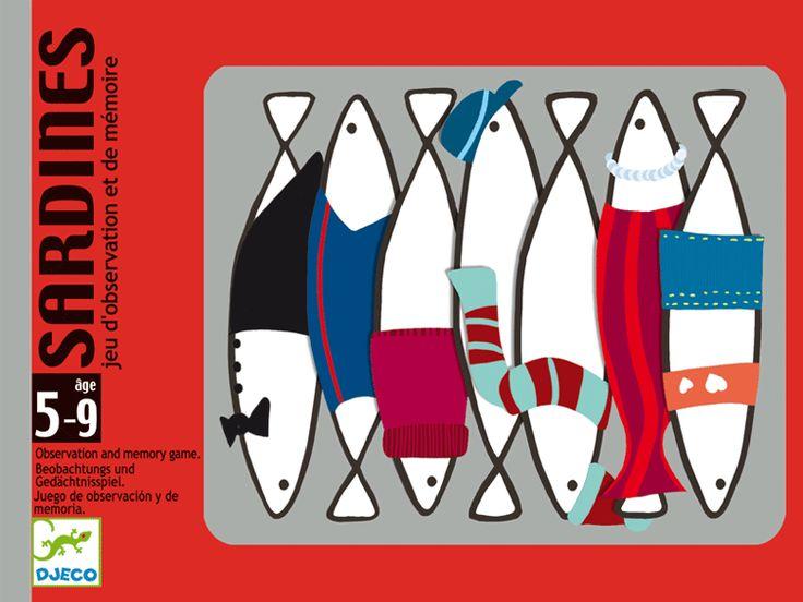 Sardines- memória kártyajáték mókás szardíniákkal (Djeco) | Pandatanoda.hu Játék webáruház