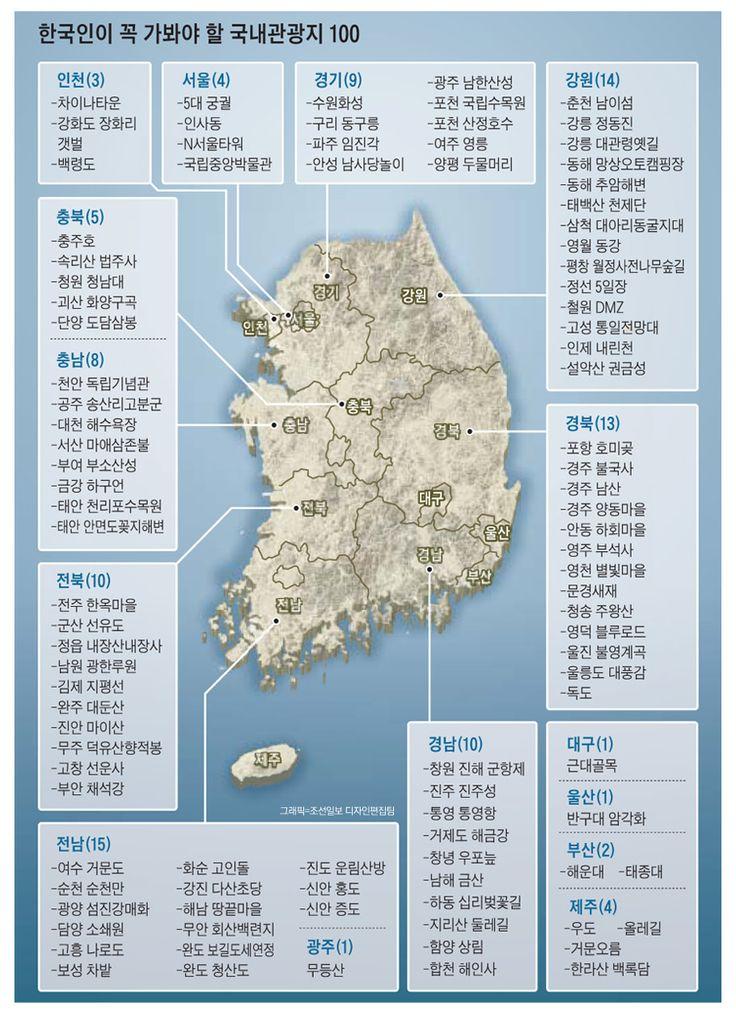 우리나라를 대표하는 최고의 관광지는 어디일까? - 조선닷컴 인포그래픽스
