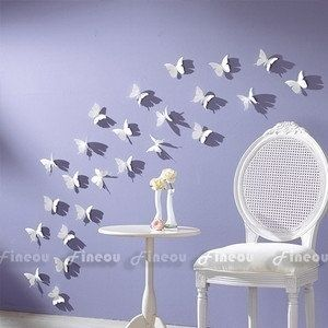 Wish | 3D DIY Wall Sticker Stickers Butterfly Home Decor Room Decorations 12 24 36 pcs