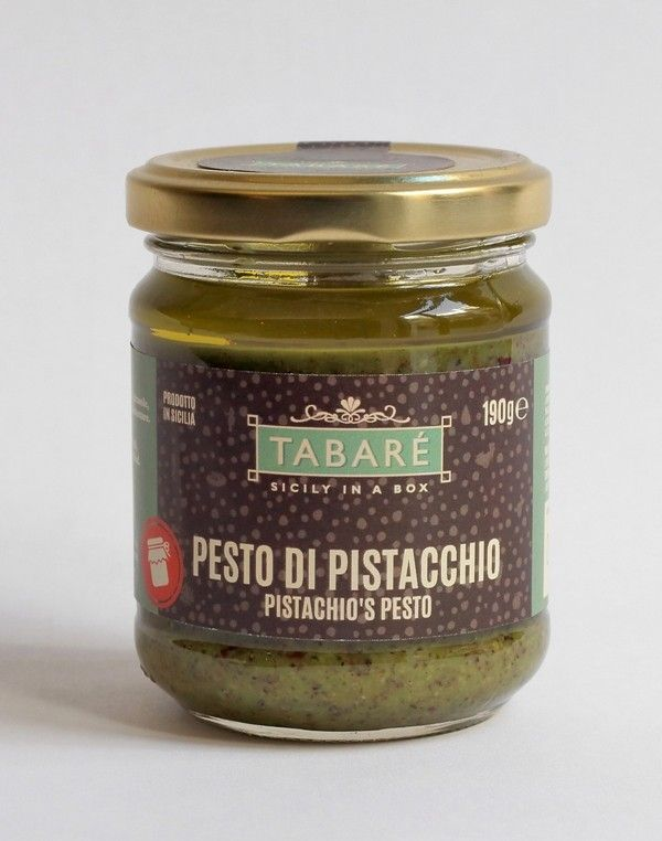 Pistachio Pesto. To spice up your pasta or original and delicious bruschettas. Try it also as dressing for white meat (chicken, fish, wild game meat). #pistachio #bronte #pesto #sicily #food #sicilianproducts #siciliancuisine