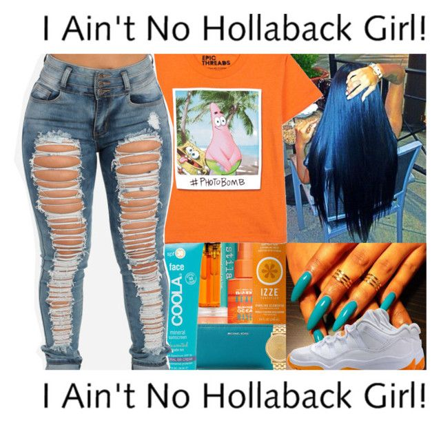 """Hollaback Girl"" by mncx1 ❤ liked on Polyvore featuring Stila, Sara Happ, Alterna, Michael Kors, Nixon, COOLA Suncare and NIKE"