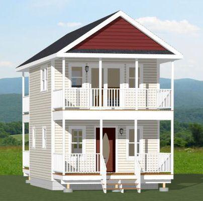 16x20 House -- #16X20H5 -- 581 sq ft - Excellent Floor Plans