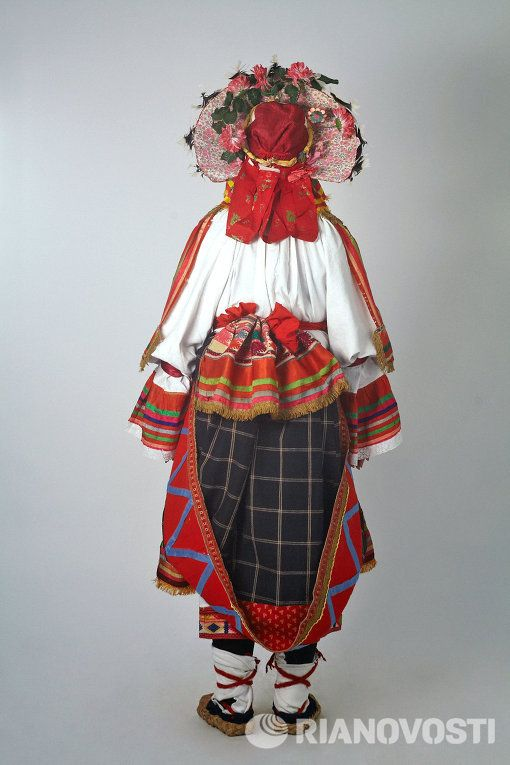 Russian national costume. The Collection Of Sergey Glebushkin.  Women's traditional costume of the province of Tula.
