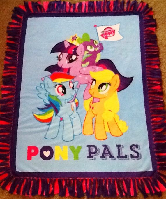 My little pony pals fleece tie blanket, reversible fleece tie blanket: www.etsy.com/listing/219333450/my-little-pony-pals-fleece-tie-blanket #simpleesweetboutique