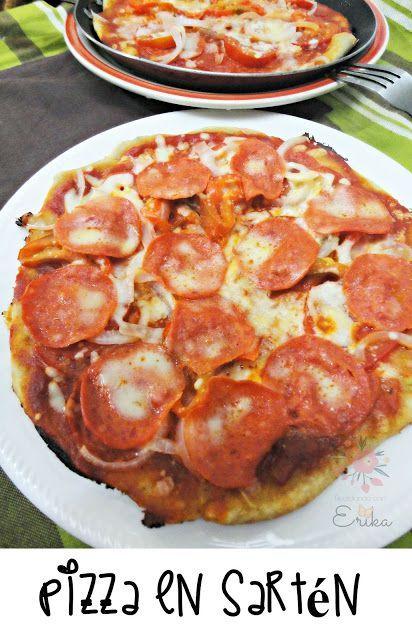 Reciclando con Erika : Pizza en sartén  con vídeo incluido