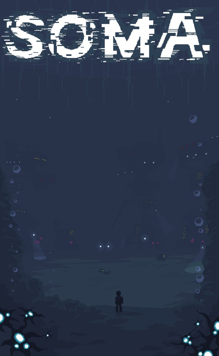 "SOMA-""Enter The Depths"" Pixel Art. I LOVE THIS GAME. SOMA is the brand new horror game from Frictional Games, who made Amnesia the Dark Descent! In SOMA you must traverse the deep ocean in a..."