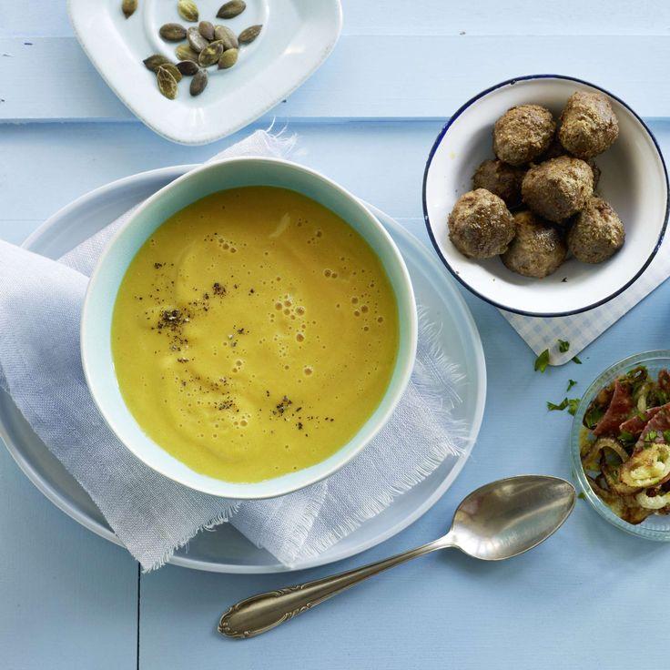 Karottensuppe. Eine herrliche Suppe aus Rüebli und Kartoffeln, die bei Gross un…