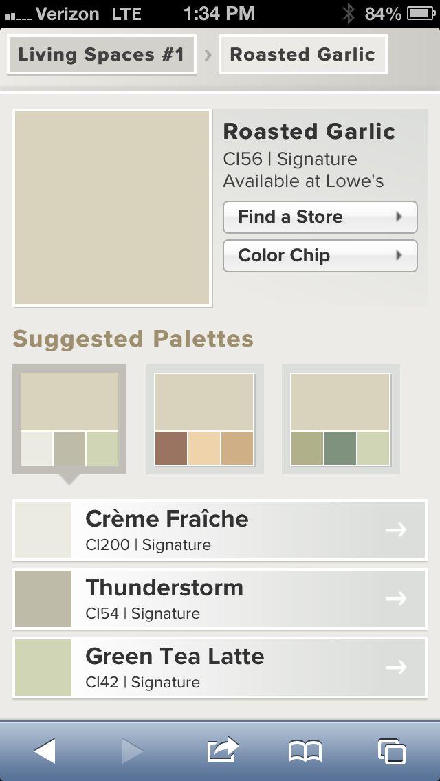 Valspar Roasted Garlic Neutral Living Room Paint Color
