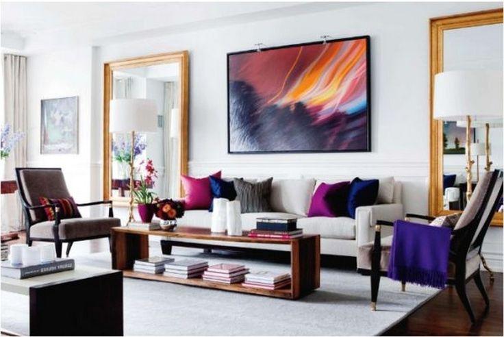 Картина объединяет все смелые цвета в интерьере