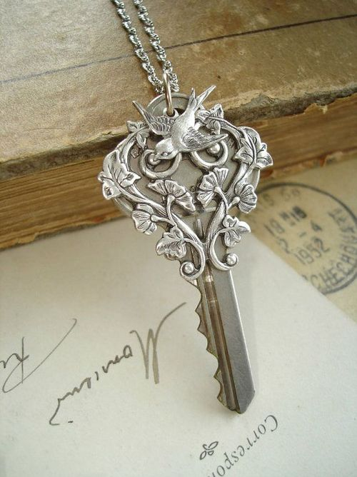 One of the keys. It's actually Jane's, a gift from her father. Barnaby had to enlist Otto the cat to help retrieve it.