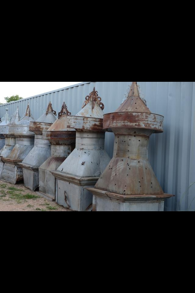 Cupolas all of these have great detail. Fringe on top, patina, some have the detailed embossed bottom added bonus.