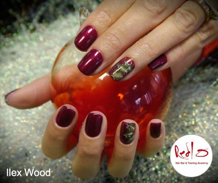 Christmas Nails using Gelish and One Stroke Nail Art