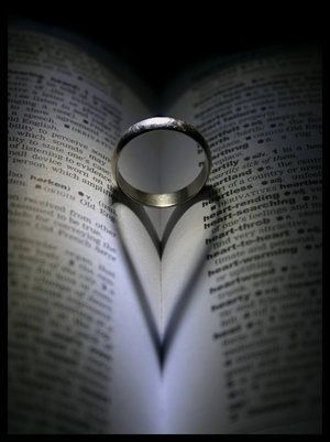 Heart ring - Love >>>would be neat with the pair of wedding bands on a bible etc...taken before the ceremony