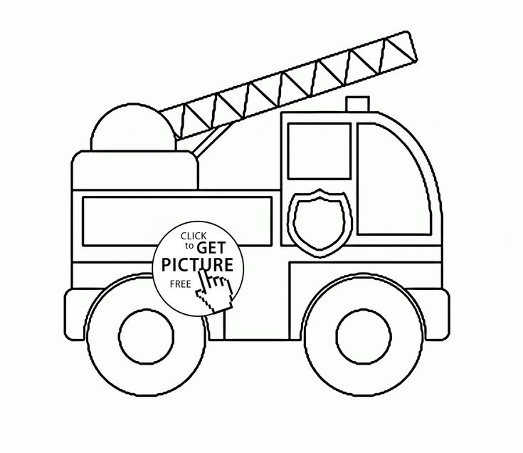 Toy Fire Truck coloring page for preschoolers ...