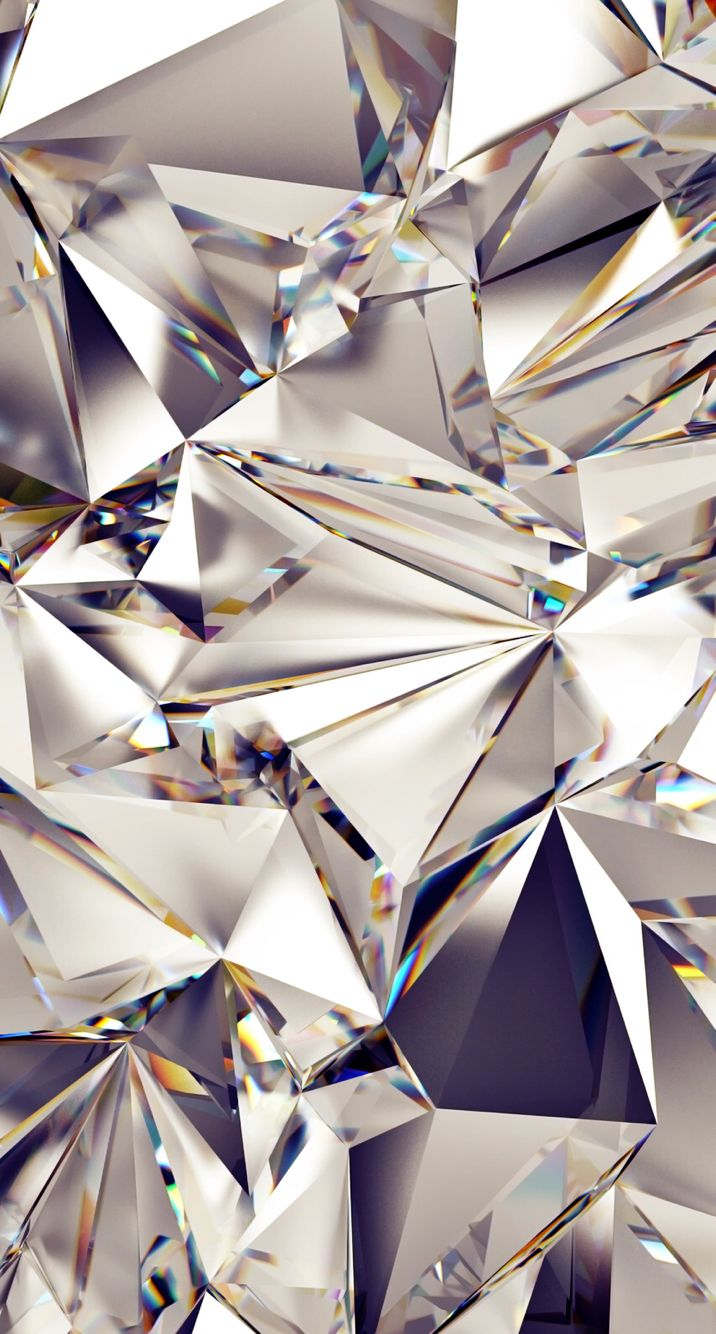Mirror Reflection Diamonds In 2019 Diamond Wallpaper