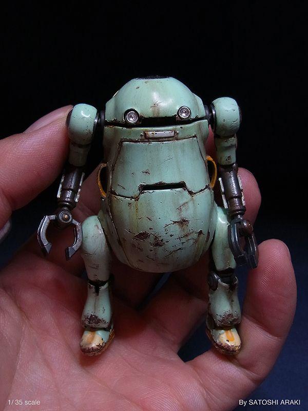 Sentinel 1:35 scale model Mechatronics WeGo by Satoshi Araki. #robot #scifi