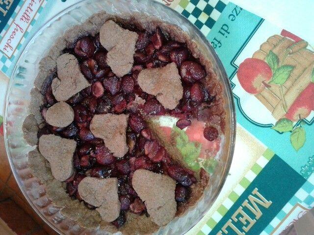 Cherry pie con frolla al cioccolato