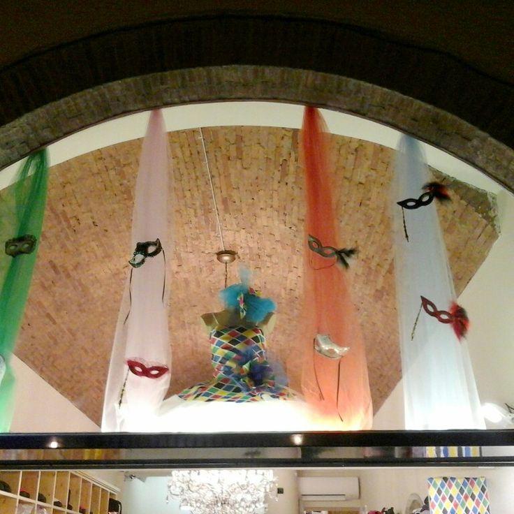 Carneval window at Top Dance shop in Prato ( Italy )