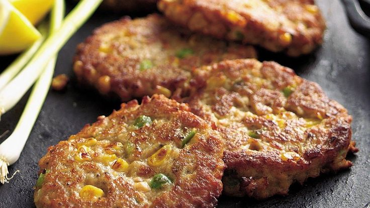 Salmon and Corn Cakes recipe and reviews - Teriyaki marinade stirs up extra zip in tasty fish cakes.