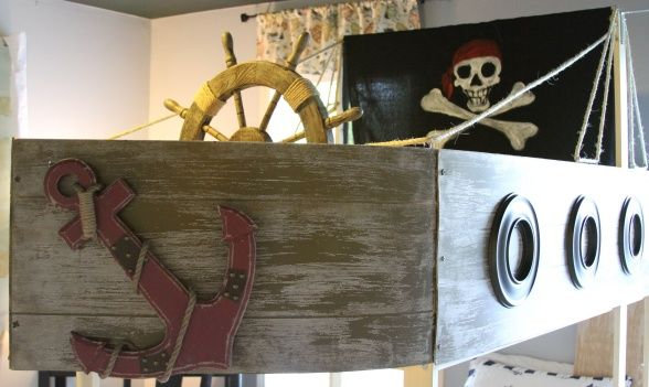 chrome hearts siambrandname Pirate Boys Bedroom I created an awesome pirate themed bedroom for my son The extra large hand painted pirate map and pirate ship bunk bed came out better than I expected  Make Andrew   s loft bed look like pirate boat