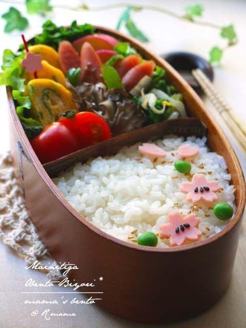 Spring Sakura Bento Lunch by あ~るママ