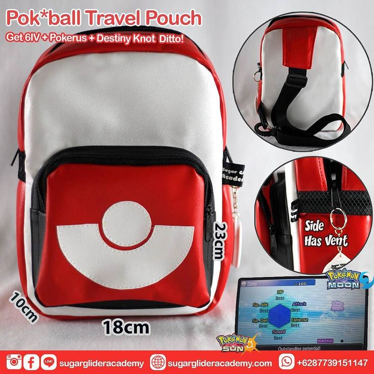 How's your Pokemon Breeding Progress? Still stuck with 4 IV? How's your EV Training? Still take long? . YOUR WAIT IS OVER!! We will give you Lv 100  6 IV Timid  Pokerus  Destiny Knot Ditto as Extra Bonuses if you buy our Pokeball Travel Pouch for your little Real Life Pokemon!! . This Cool Bag is a VERY LIMITED PREMIUM EDITION It's perfect to bring your little Pokemon with you anywhere anytime. . This travel pouch is quite big waterproof sturdy outside have soft foam inside and using soft…