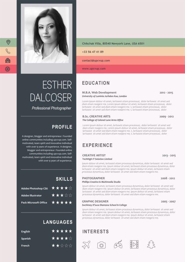 Professional Resume Template Instant Download 1 Page Resume Template For Ms Word Diy Resume Temp Desain Cv Desain Resume Cv Kreatif