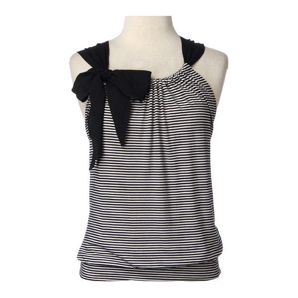 Sleeveless Stripe Front with Bow diy