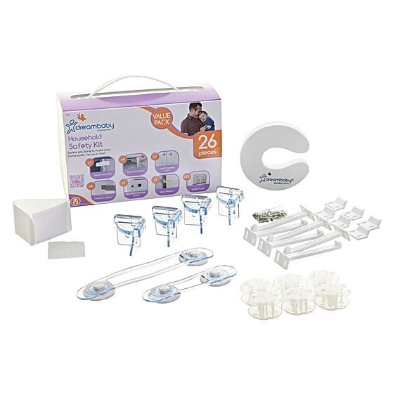 To help prevent potential hazards, childproof your house and rest easier with the varied safety products offered in the Dreambaby's Household Safety Value Kit. The kit provides a comprehensive range of safety solutions and must-haves.