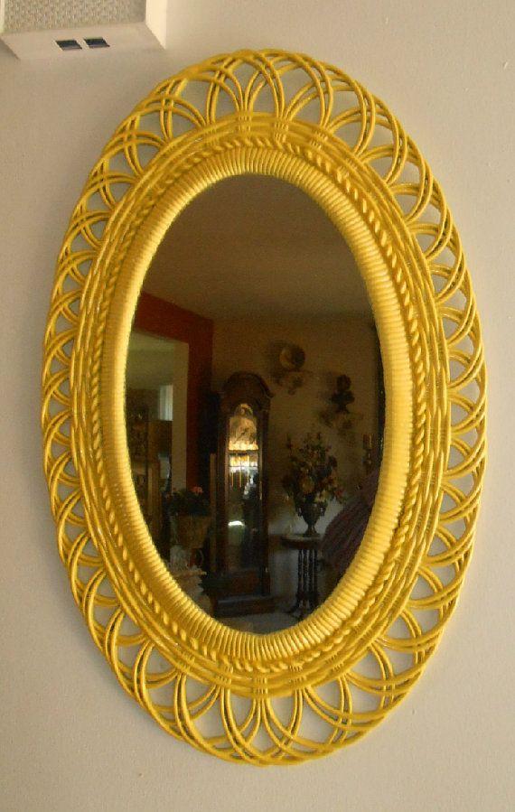 Upcycled Vintage Burwood Yellow Oval Large by FurnitureFusion