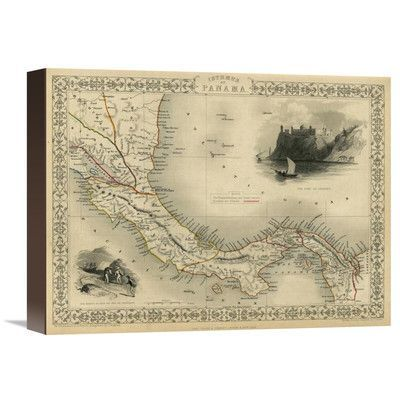 "Global Gallery Isthmus of Panama, 1851 by R.M. Martin Graphic Art on Wrapped Canvas Size: 12"" H x 16"" W x 1.5"" D"