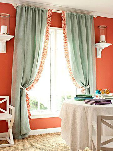 素敵なオリジナルカーテンの作り方 いろいろ 〔カーテンをドレスアップする方法〕