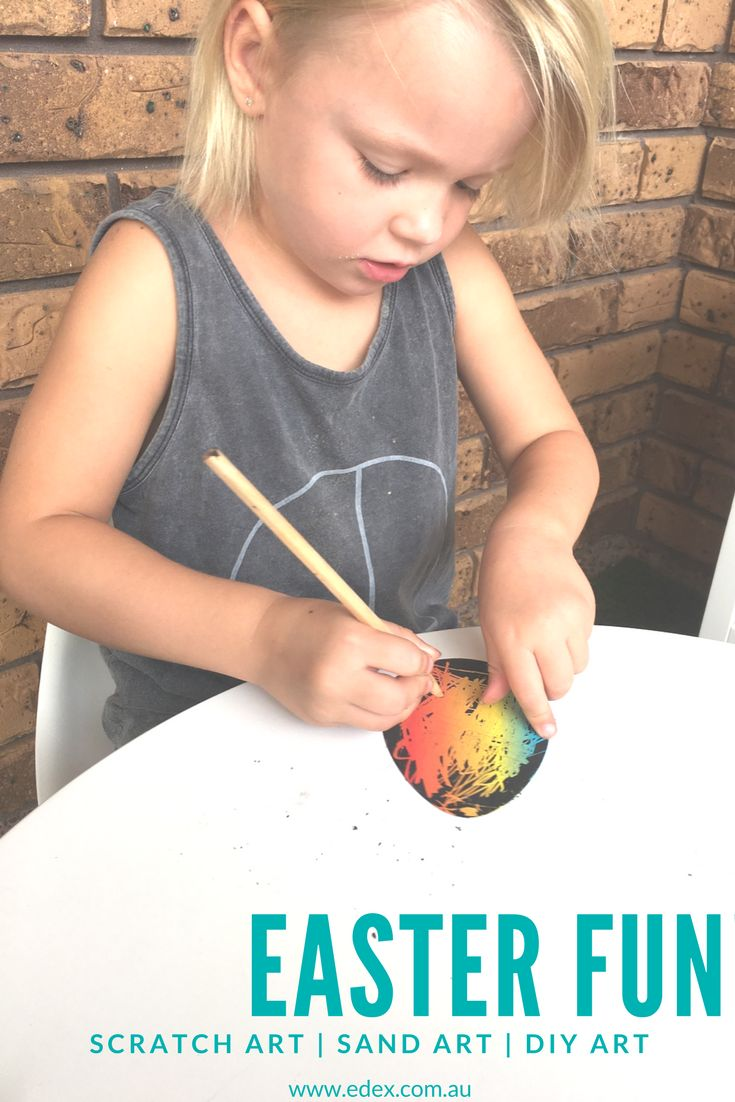 Kids love scratch art so it only makes sense to add it to their Easter art and craft to-do list. Use them as decorations, gifts, cards or add them to your Easter Hat!