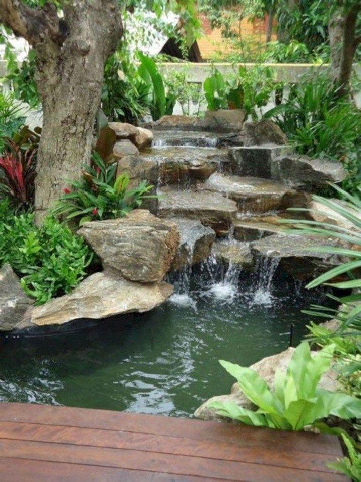 20 Modern Diy Garden Pond Waterfall Ideas For Backyard Water