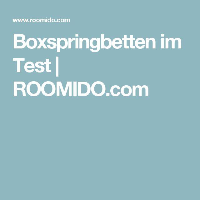 Boxspringbetten im Test   ROOMIDO.com