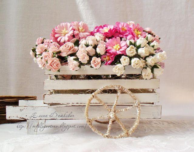 Своими руками садовые тачки для цветов