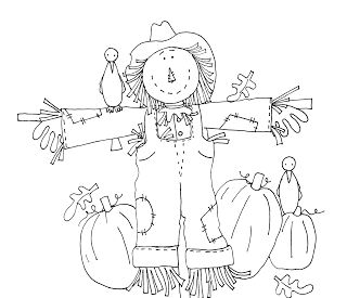 Free Dearie Dolls Digi Stamps: Scarecrow in the Pumpkin Patch