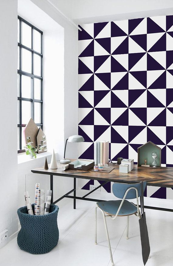 Geometric Pattern Self Adhesive Vinyl Wallpaper Z046