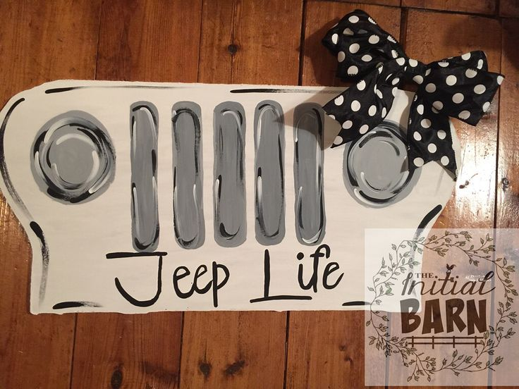 "24"" Jeep Life Door Hanger is perfect for every Jeep lover!"